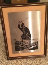 Steel Picture Made by Greenwell Rare