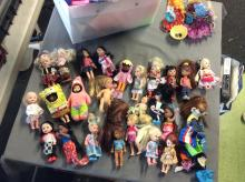 Huge Mini Doll Lot Loaded with different Dolls
