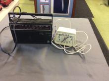 Vintage Radio and Alarm Clock lot