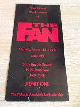 Wesley Snipes, Woody Harrelson, Sharon Stone Auto's on NYC World Premier ticket of