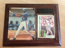 Darryl Strawberry Plaque with Rookie Card