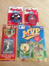 Baseball Collectors Pins and Cards