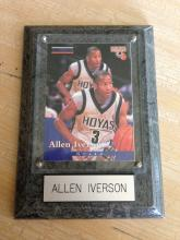 Allen Iverson Plaque with Rookie Card