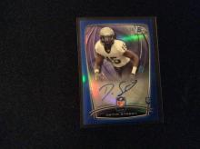 2014 Bowman Chrome Blue Refractor Auto Devin Street numbered to 99