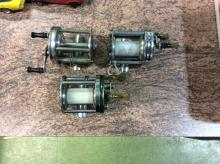 Lot of 3 Vintage Shakespeare fishing reels 1909-1964