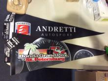 Mario Andretti and Honda Grand Prix Pennant Lot Brand New with Tags