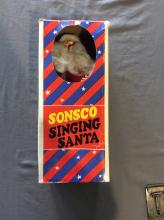 Vintage L.B. Cohen & Sons Sonsco Singing Christmas Holiday Santa Doll 13