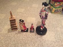 JAPAN JAPANESE GEISHA DOLL Lot of 3 Dolls