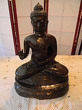 Cast Iron Asian Statue 24