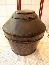 Asian Rice Barrell Antique 15