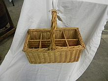 Wicker Wine Holder Basket