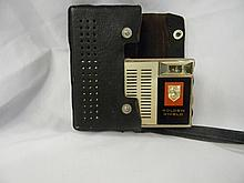 Vintage Golden Shield Transitor 6 Radio with case