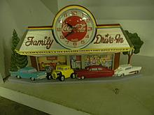 Coca Cola Family Drive in Clock