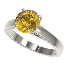 Genuine 2.0 CTW Certified Intense Yellow Genuine Diamond Solitaire Engagement Ring Gold - 33037-REF#316X2A