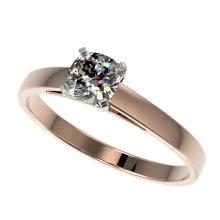 0.50 CTW Certified Quality Cushion Cut Genuine Diamond Solitaire Ring 10K Rose Gold - 32969-REF#58K8R