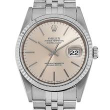 Pre-owned Excellent Condition Authentic Rolex Quickset Men's Stainless Steel DateJust Salmon Dial Watch - REF#-260R4H