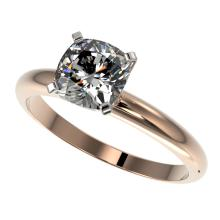 1.25 CTW Certified Quality Cushion Cut Genuine Diamond Solitaire Ring 10K Rose Gold - 32920-REF#341Y3X