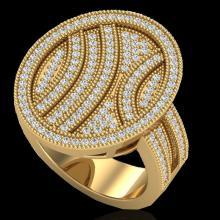 Genuine 1.25 CTW Micro Pave Diamond Certified Ring 14K Gold - 20877-REF#89K3T