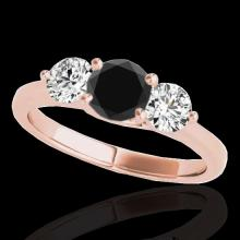Genuine 2.0 CTW Certified Black Genuine Diamond 3 Stone Bridal Solitaire Ring Gold - 35389-REF#162N3G