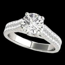 Genuine 2.11 CTW Certified G-I Genuine Diamond Pave Bridal Ring Two Tone Gold - 35464-REF#331A5N