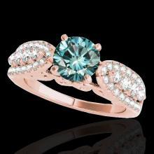 Genuine 1.70 CTW Certified Fancy Blue Genuine Diamond Solitaire Bridal Ring Gold - 35265-REF#132K2T