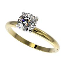 Genuine 1.0 CTW Certified H-I Quality Genuine Diamond Solitaire Engagement Ring Gold - 32886-REF#80H2R