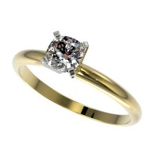 Genuine 0.50 CTW Certified Quality Cushion Cut Genuine Diamond Solitaire Ring Gold - 32873-REF#58R7Z