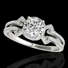 Genuine 1.36 CTW Certified G-I Genuine Diamond Solitaire Bridal Ring Gold - 35322-REF#111X5A