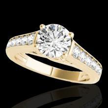 Genuine 1.50 CTW Certified G-I Genuine Diamond Solitaire Bridal Ring Gold - 34900-REF#116K2T