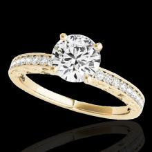 Genuine 1.43 CTW Certified G-I Genuine Diamond Solitaire Bridal Antique Ring Gold - 34614-REF#122F8M