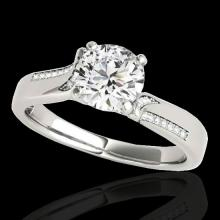 Genuine 1.18 CTW Certified G-I Genuine Diamond Solitaire Bridal Ring Gold - 35285-REF#104H5R