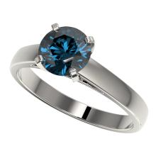 Genuine 1.46 CTW Certified Intense Blue Genuine Diamond Solitaire Engagement Ring Gold - 36548-REF#137Y2V
