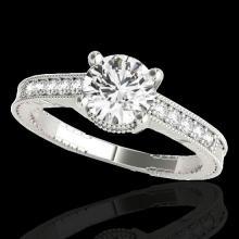 Genuine 1.20 CTW Certified G-I Genuine Diamond Solitaire Bridal Antique Ring Gold - 34747-REF#99G2W