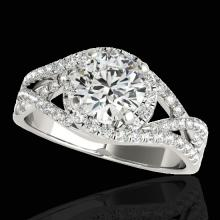 Genuine 2.0 CTW Certified G-I Genuine Diamond Bridal Solitaire Halo Ring Two Tone Gold - 33839-REF#337V2F