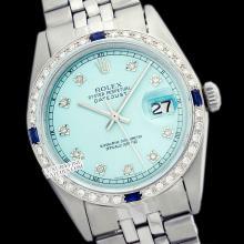 Rolex Ladies Stainless Steel, Diam Dial & Diam/Sapphire Bezel, Saph Crystal - REF#338F2W