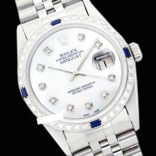 Rolex Men's Stainless Steel, QuickSet, Diam Dial & Diam/Sapphire Bezel - REF#425Y5N