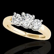 Genuine 2.0 CTW Certified G-I Genuine Diamond 3 Stone Bridal Solitaire Ring Gold - 35441-REF#220W2K