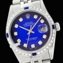 Rolex Ladies Stainless Steel, Diam Dial & Diam/Sapphire Bezel, Saph Crystal - REF#338K2A