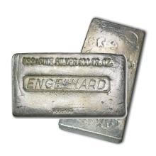 One piece 100 oz 0.999 Fine Silver Bar Engelhard Poured Version