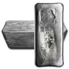 One piece 100 oz 0.999 Fine Silver Bar Bison Bullion