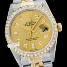 Rolex Ladies 2Tone 14K Gold/ Stainless Steel , Diamond Dial & Diamond Bezel, Saph Crystal - REF#321Y8N