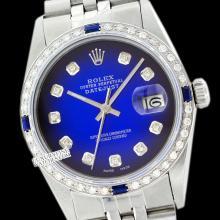 Rolex Ladies Stainless Steel, Diam Dial & Diam/Sapphire Bezel, Saph Crystal - REF#338M2K