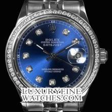 Rolex Men's Stainless Steel, QuickSet, Diamond Dial & Diamond Bezel - REF#425X5G