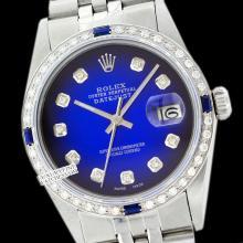 Rolex Ladies Stainless Steel, Diam Dial & Diam/Sapphire Bezel, Saph Crystal - REF#338J2Y