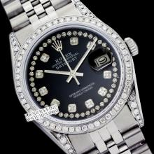 Rolex Ladies Stainless Steel, Diamond Dial & Diamond Bezel, Saph Crystal - REF#376Y4N