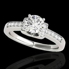Genuine 1.11 CTW Certified G-I Genuine Diamond Solitaire Bridal Ring Two Tone Gold - 34828-REF#96Y3V
