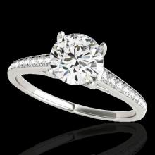Genuine 1.50 CTW Certified G-I Genuine Diamond Solitaire Bridal Ring Gold - 34844-REF#118H5R