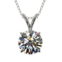 Genuine 1.04 CTW Certified H-I Quality Genuine Diamond Bridal Solitaire Necklace Gold - 36750-REF#81X8A