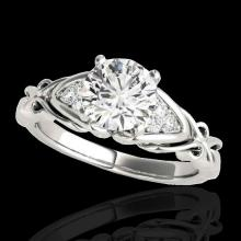 Genuine 1.35 CTW Certified G-I Genuine Diamond Solitaire Bridal Ring Two Tone Gold - 35207-REF#125W8K