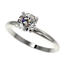 Genuine 1.0 CTW Certified H-I Quality Genuine Diamond Solitaire Engagement Ring Gold - 32884-REF#80F2M